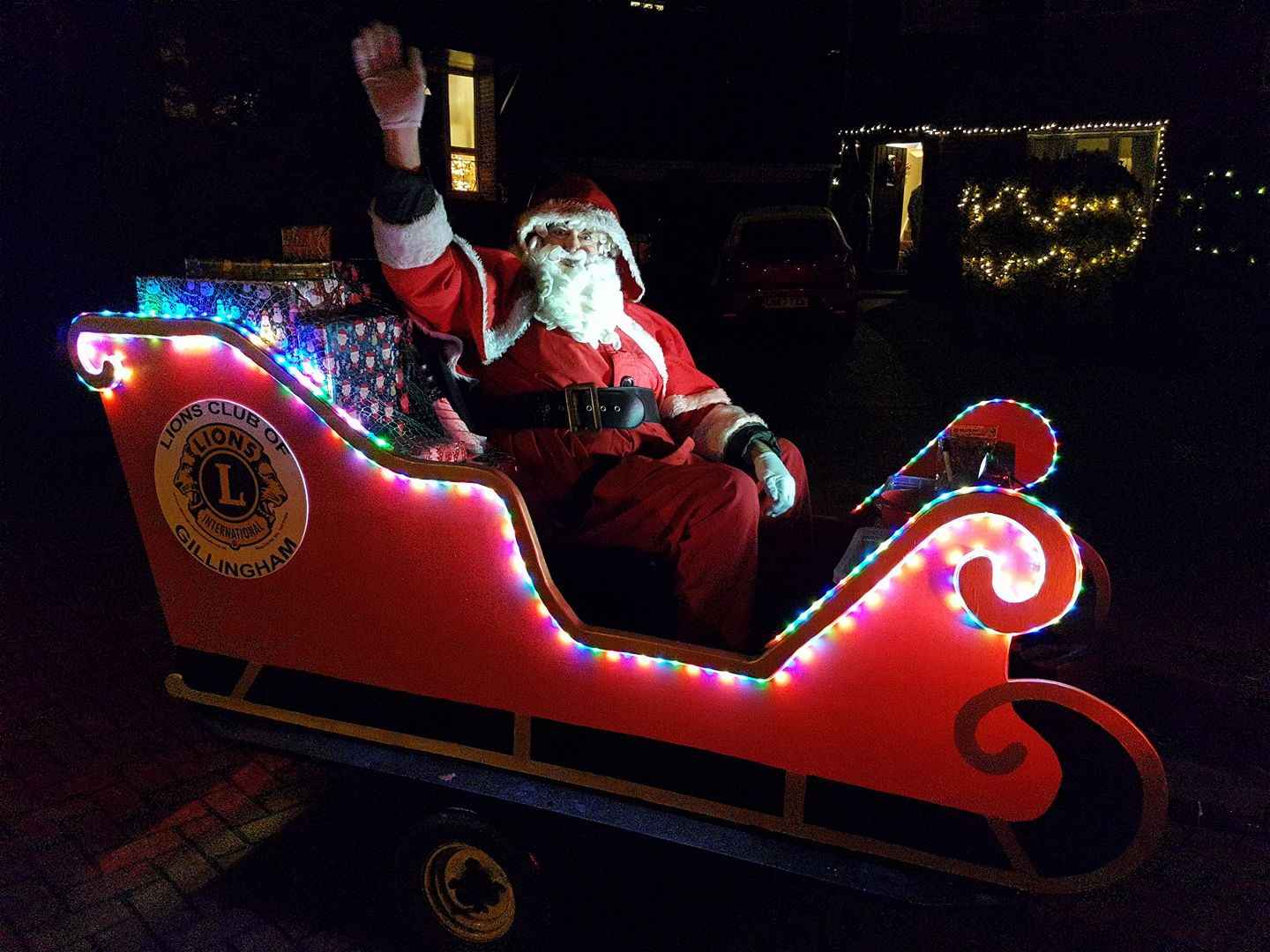 Our Christmas float with Father Christmas